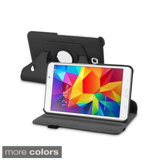 BasAcc 360 Swivel Rotating Stand Leather Case Cover for Samsung Galaxy Tab 4 7.0