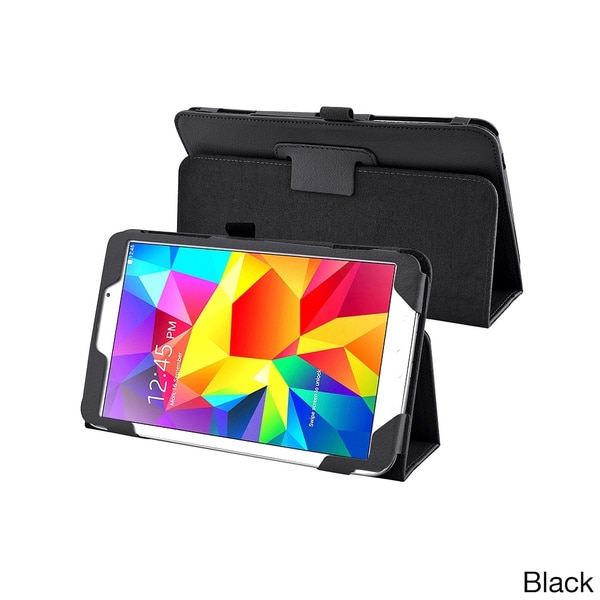 INSTEN Sleep Wake Function Flip Stand Leather Tablet Case Cover for Samsung Galaxy Tab 4 8.0
