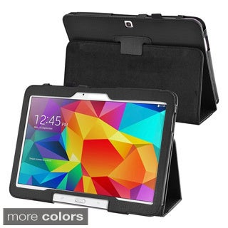 BasAcc Sleep Wake Function Flip Stand Leather Case for Samsung Galaxy Tab 4 10.1