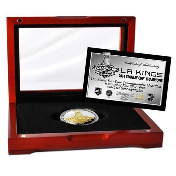 NHL LA Kings 2014 Stanley Cup Champions Two-tone Mint Coin 13256226
