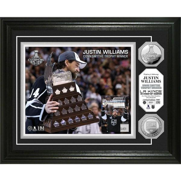 NHL LA Kings 2014 Stanley Cup Champions Conn Smythe Silver Coin Photo Mint