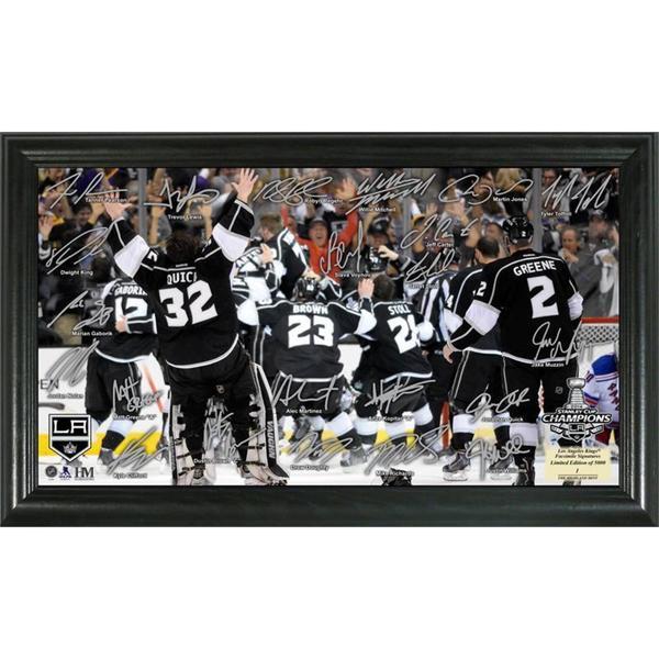 NHL LA Kings 2014 Stanley Cup Champions Celebration Signature Rink Frame 13256233