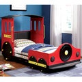 Furniture of America Red Train Locomotive Metal Youth Bed