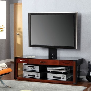 Furniture of America Trenise Duo-tone 3-Drawer TV Console with Mount Bracket
