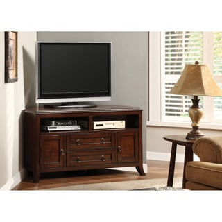 Furniture of America Arture Assembled Corner TV Console