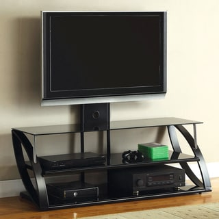 Furniture of America Enivie Modern Metal TV Console with Mount Bracket