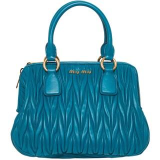Miu Miu Matelasse Bowler Handbag