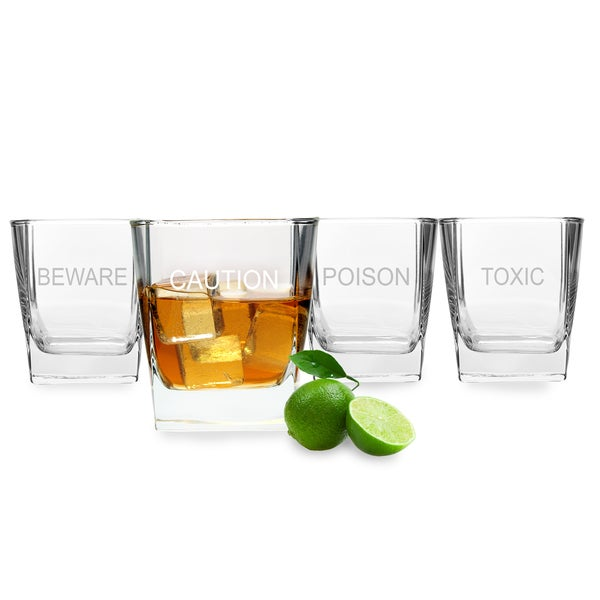 Halloween What's Your Poison Rocks Glasses (Set of 4)