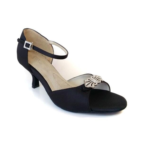 Angela Nuran Women's 'Astoria' Low Silk Kitten Heel Pumps