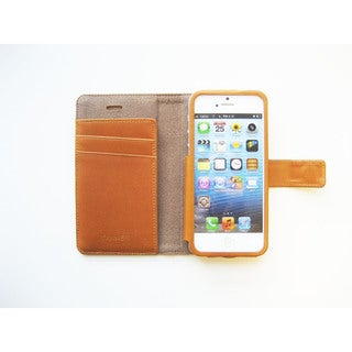 Handmade Premium Leather Apple iPhone 5/ 5S/ 5C Wallet Case Cover