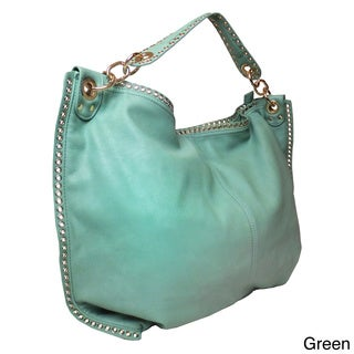 Lithyc 'Katrina' Shoulder Hobo with Studded Trim