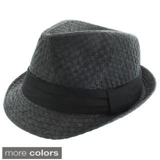 Faddism Men's Woven Fashion Fedora Hat