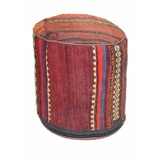 Multicolor Abstract Pouf Ottoman