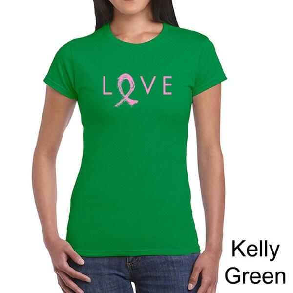 Women's 'Love' Cancer Ribbon Short-sleeve T-shirt
