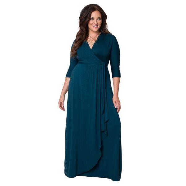 Kiyonna Women's Plus Wrapped in Romance Maxi Dress