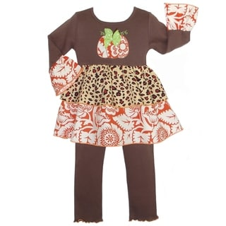 AnnLoren Girls' Boutique Thanksgiving Harvest Pumpkin Outfit