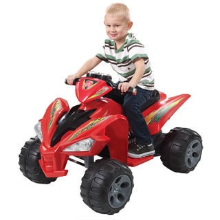 Step 2 12 V Super Quad Battery Operated Ride On : Red