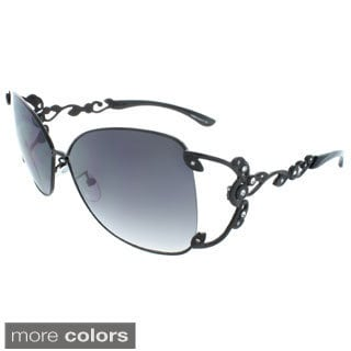 EPIC Eyewear Polished Metal 59 mm Square Sunglasses
