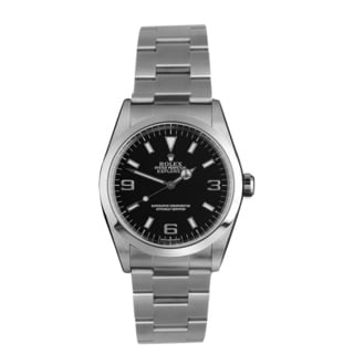 Pre-owned Rolex Men's Stainless Steel Explorer Oyster Bracelet Watch