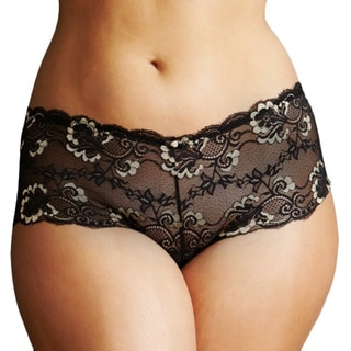 Prestige Biatta Women's Plus Lace Thong-cheeky