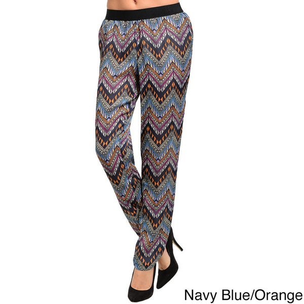 Shop The Trends Women's Loose Fit Woven Trousers with Multi-colored Geo Pattern Design