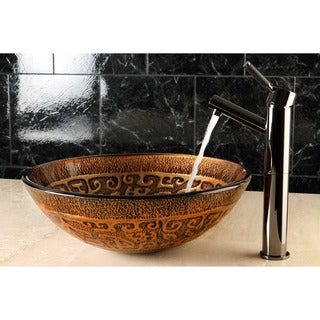 Antique Art Glass Vessel Bathroom Sink