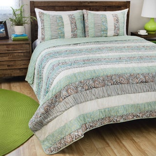 Greenland Home Fashions Paradise 3-piece Cotton Quilt Set