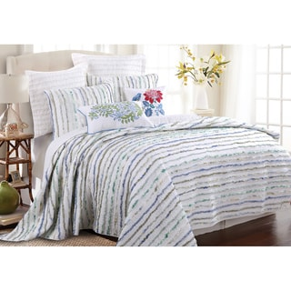 Greenland Home Fashions Jasmine Ruffled Cotton 3-piece Quilt Set