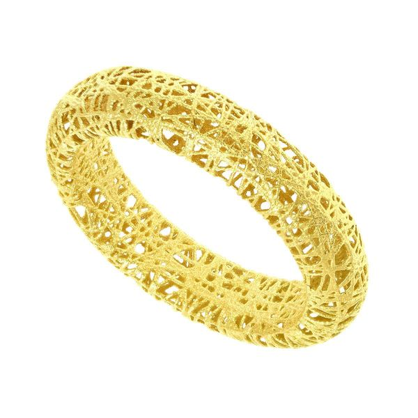 14k Yellow Gold Stilnovo Mesh Wire Ring