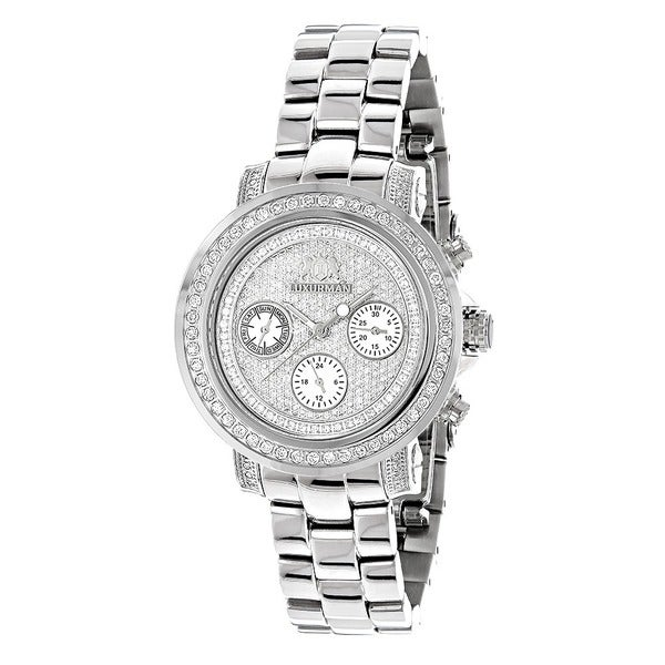 Luxurman Women's Montana Iced Out 2ct Diamond Watch