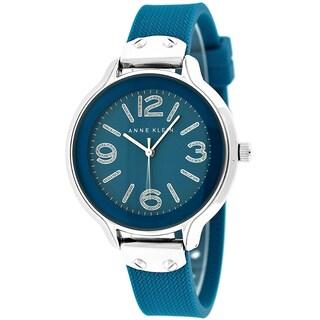 Anne Klein Women's AK-1615BLBL Blue Silicone Watch