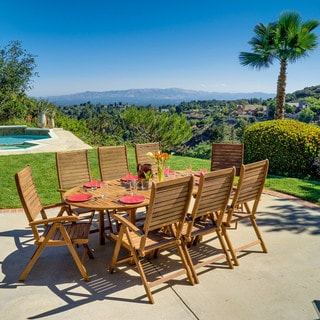 Christopher Knight Home Americana 9-piece Outdoor Hard Wood Set