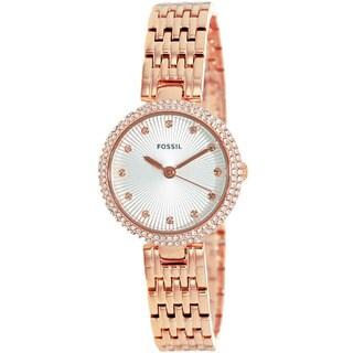 Fossil Women's ES3347 Olive Analog Display Analog Quartz Rose Goldtone Watch