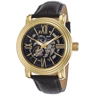 Lucien Piccard Women's LP-11912-YG-01 Domineer Black and Skeletonized Watch