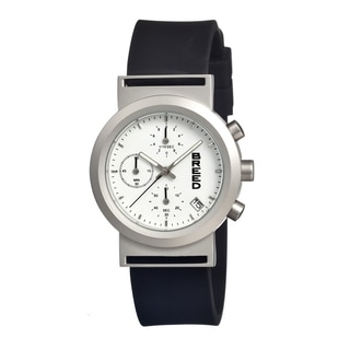 Breed Men's Jefferson White Silicone Black Analog Watch