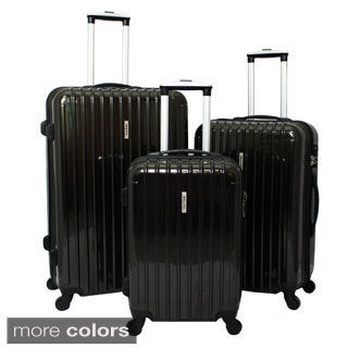 Dejuno Bagagli 3-piece Hardside Lightweight Spinner Luggage Set