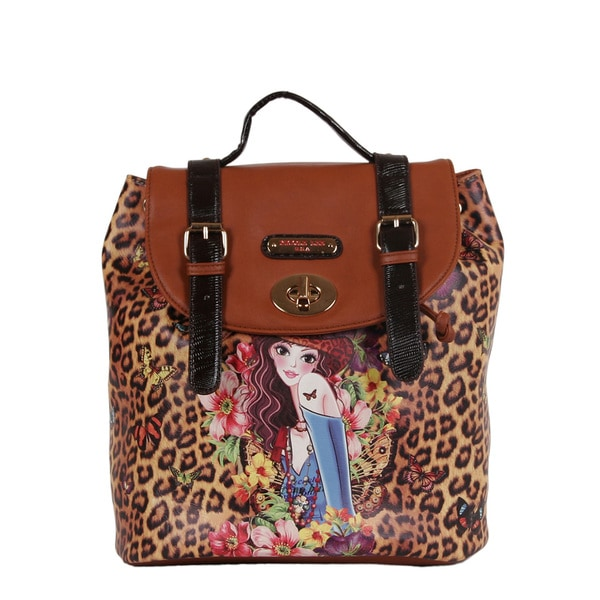 Nicole Lee Sandra Cheetah Print Backpack
