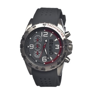 Breed Men's Touring Grey Silicone Grey Analog Watch