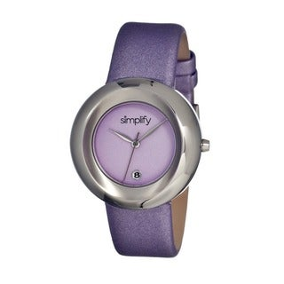 Simplify Women's The 1500 Purple Leather Lavender Analog Watch