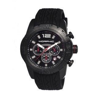 Morphic Men's M27 Series Black Silicone Black Analog Watch