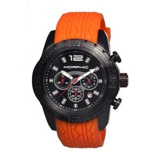 Morphic Men's M27 Series Black Silicone Orange Analog Watch