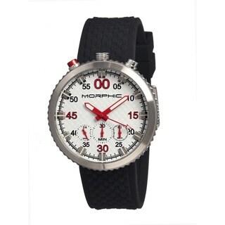 Morphic Men's M29 Series White Silicone Black Analog Watch