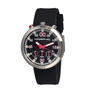 Morphic Men's M29 Series Black Silicone Black Analog Watch