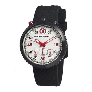 Morphic Men's M29 Series White Silicone Black Analog Watch