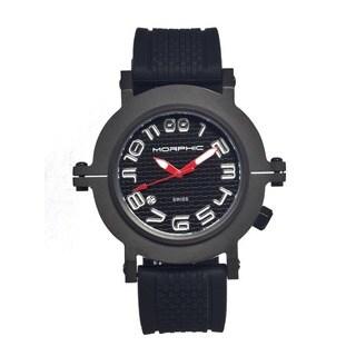 Morphic Men's M31 Series Black Silicone Black Analog Watch