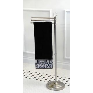 Pedestal Satin Nickel Towel Bar