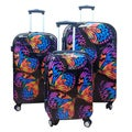 Kemyer World Series II Butterfly Wide Body 3-piece Hardside Spinner Luggage Set