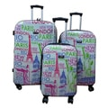 Kemyer World Series II Eiffel Tower Wide Body 3-piece Hardside Spinner Luggage Set