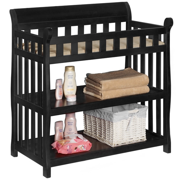 Delta Black Wooden Changing Table