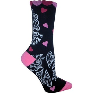 Betsey Johnson Women's Henna Heart Crew Socks